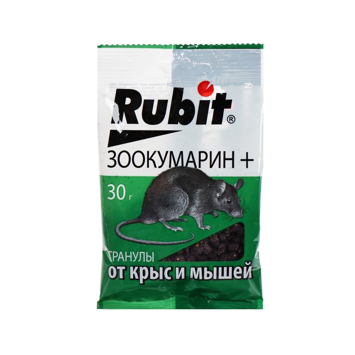 Средство от грызунов Rubit ЗООКУМАРИН+ гранулы 30 г