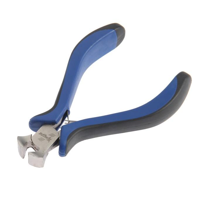 Кусачки торцевые TUNDRA, никелированные, рукоятки 2К, 130 мм