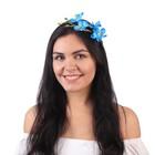 """Гавайский ободок """"Лазурный цветок"""""""
