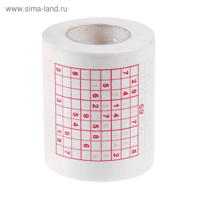 """Прикол туалетная бумага """"Судоку"""" двухслойная, 10 метров"""