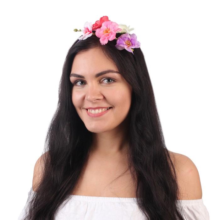"""Гавайский ободок """"Дикие розы"""""""