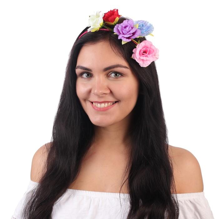 "Гавайский ободок ""Весенний сад"""