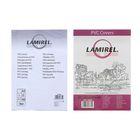 Обложки 100шт Lamirel Transparent A4, PVC, прозрачные, 150мкм
