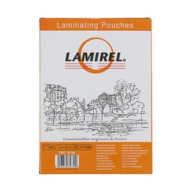 Пленка для ламинирования 100шт Lamirel А5, 100мкм Ош