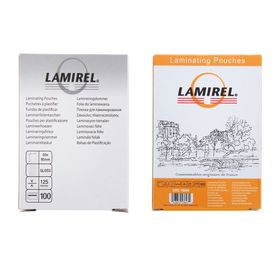 Пленка для ламинирования 100шт Lamirel 65x95мм 125мкм Ош