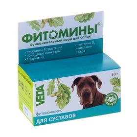 """Витамины """"Фитомины"""" для собак, с фитокомплексом для суставов, 50 г"""