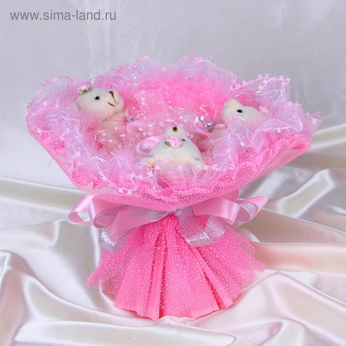 """Букет из игрушек """"Модница"""" розовый"""