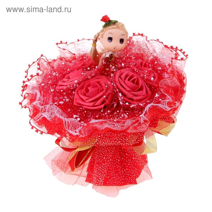"""Букет из игрушек """"Куколка"""" красный"""