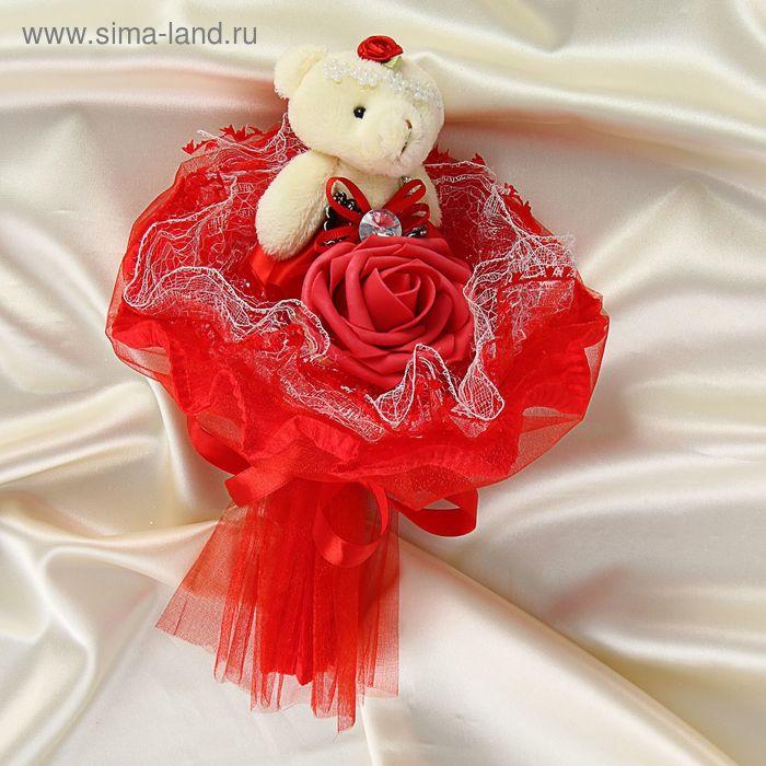 """Букет из игрушек """"Принцесса"""" красный"""