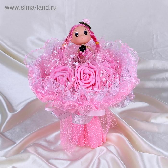 """Букет из игрушек """"Куколка"""" розовый"""