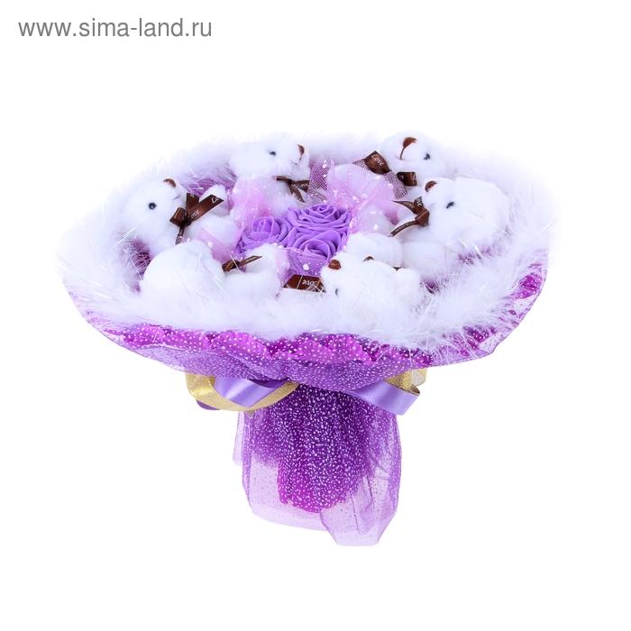 """Букет из игрушек """"Romantique"""" фиолетовый"""