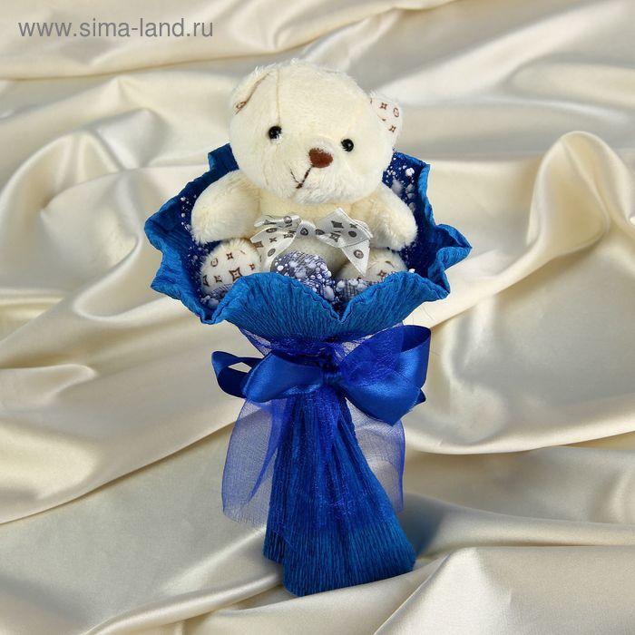 """Букет из игрушек """"Мишутка"""" синий"""