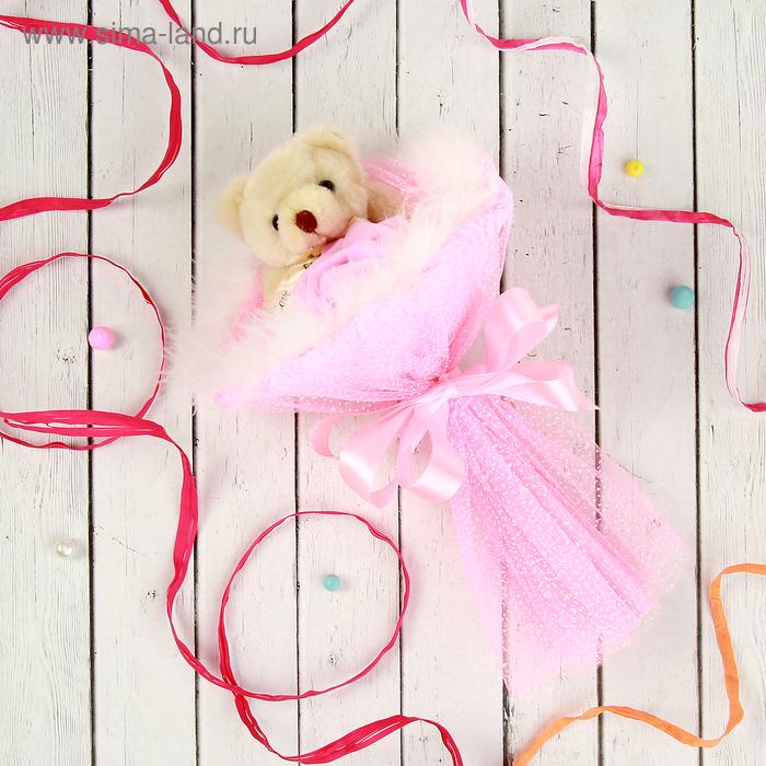 """Букет из игрушек """"Симпатия"""" розовый"""