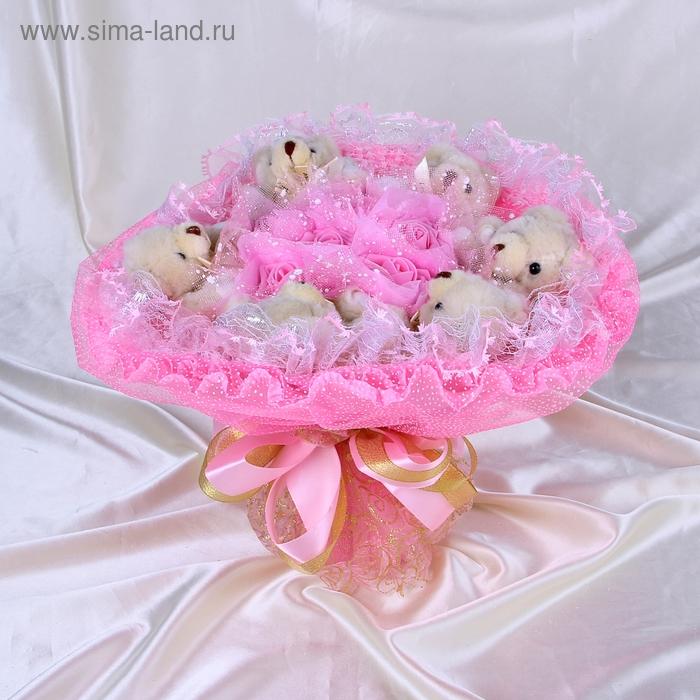 """Букет из игрушек """"Фортуна"""" розовый"""