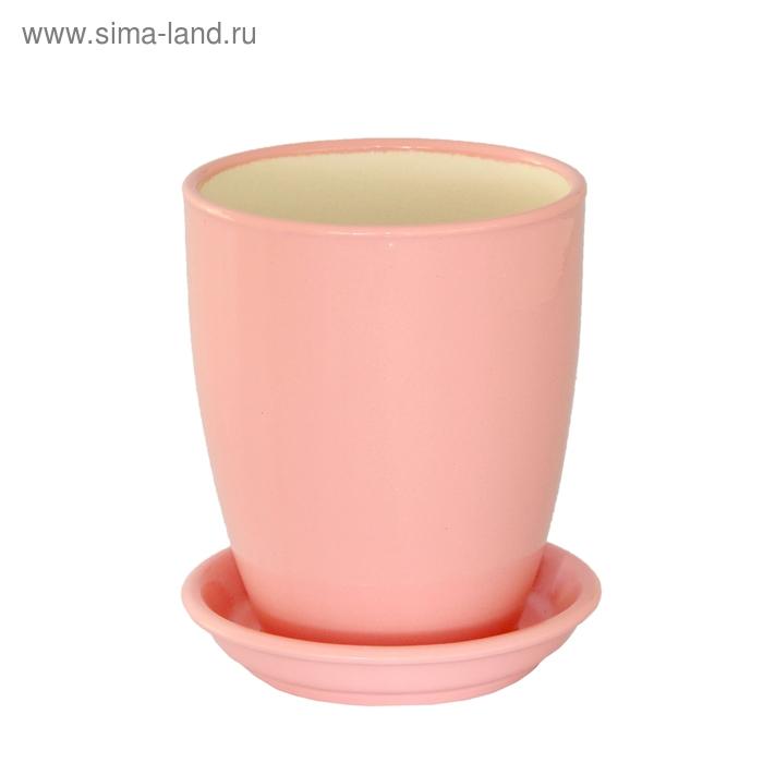 """Кашпо """"Мари"""" орхидейница, розовое, глянец, 1,3 л"""