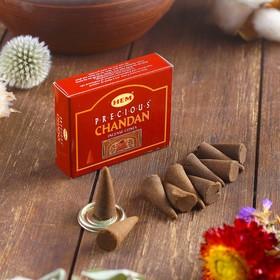 """Благовония HEM """"Precious Chandan. Драгоценный Чандан"""", 10 конусов в упаковке"""