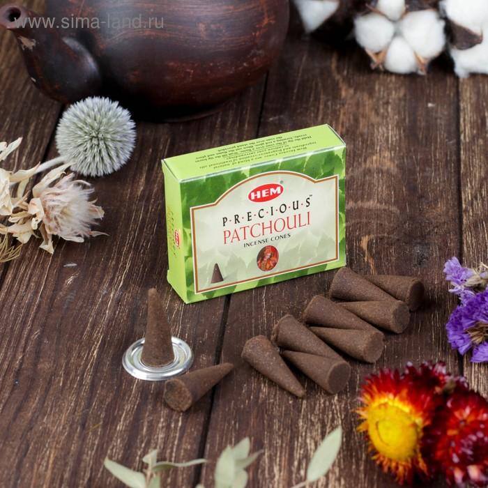 Благовония конус HEM Precious Patchouli Драгоценный Пачули 10 штук в упаковке