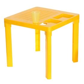 Детский стол с подстаканником, цвет жёлтый
