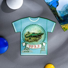 """Magnet in the shape of a t-shirt """"Ural"""""""