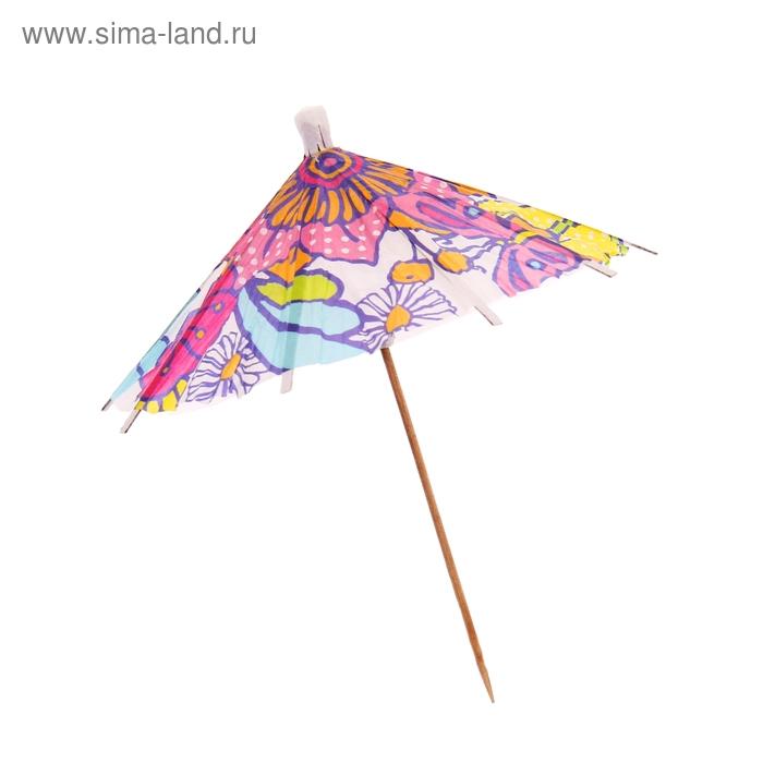 """Шпажки для канапе """"Зонтик цветной"""", набор 6 шт., цвета МИКС"""