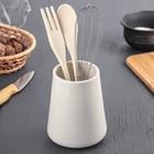 """Кулинарный набор 3 предмета """"Эстет"""" подставка 25х11 см, венчик, лопатка, ложка"""