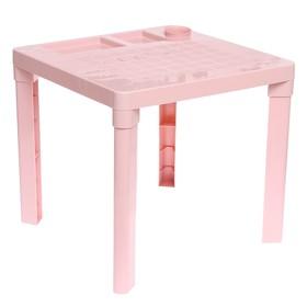 Детский стол с подстаканником, цвет розовый