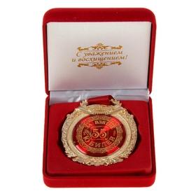 """Медаль в бархатной коробке """"За взятие юбилея 55"""""""