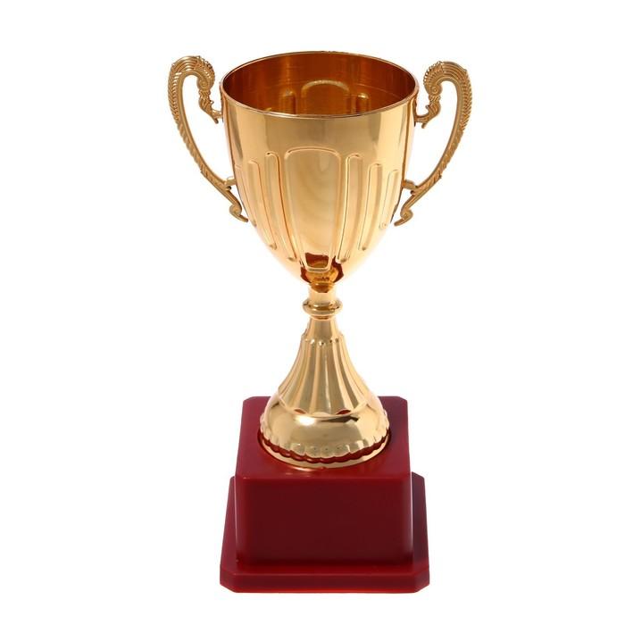 Кубок спортивный пластик 045, цвет бронза