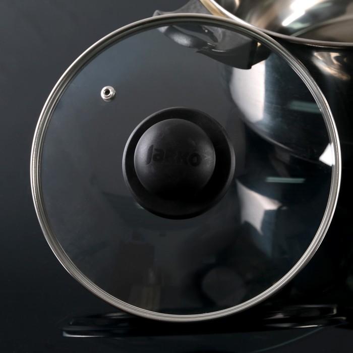 Крышка для сковороды и кастрюли стеклянная, d=20 см, с пластиковой ручкой - фото 647402