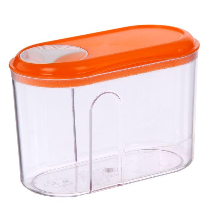 Ёмкость для сыпучих продуктов с дозатором 0,75 л, цвет МИКС
