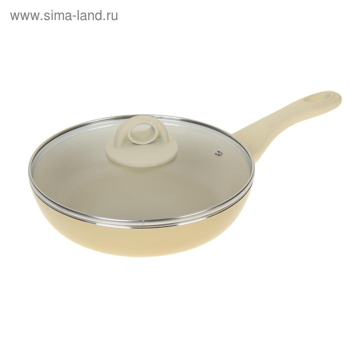 Сковорода глубокая d=24 см White Chocolate, с крышкой