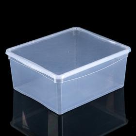 Ящик для хранения с крышкой Bubble Boom, 40×33,5×17 см, цвет МИКС
