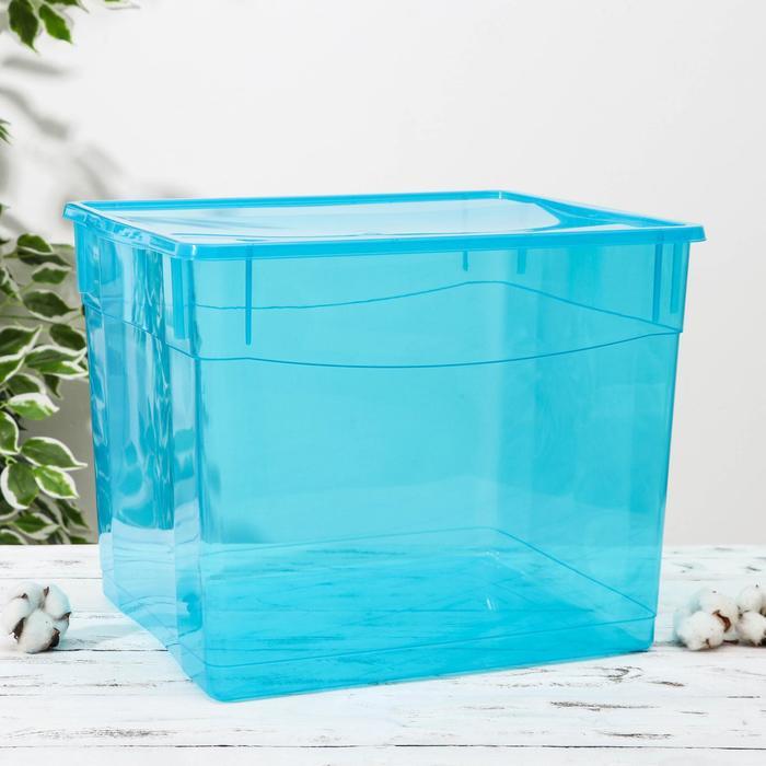 Ящик для хранения с крышкой «Колор. Стайл», 34 л, 39×31×33 см, цвет МИКС - фото 308334864