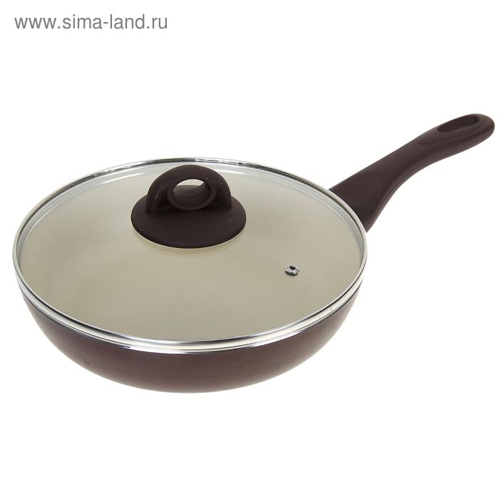 Сковорода глубокая d=24 cм Dark Chocolate, с крышкой