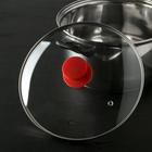 Крышка стеклянная d=24 см Silk, ручка силиконовая МИКС