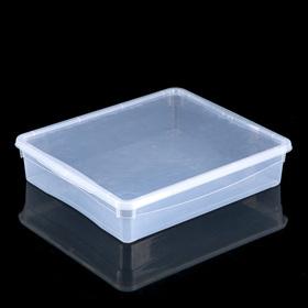 Ящик для хранения с крышкой Bubble Boom, 8 л, 40×33,5×8,5 см, цвет МИКС