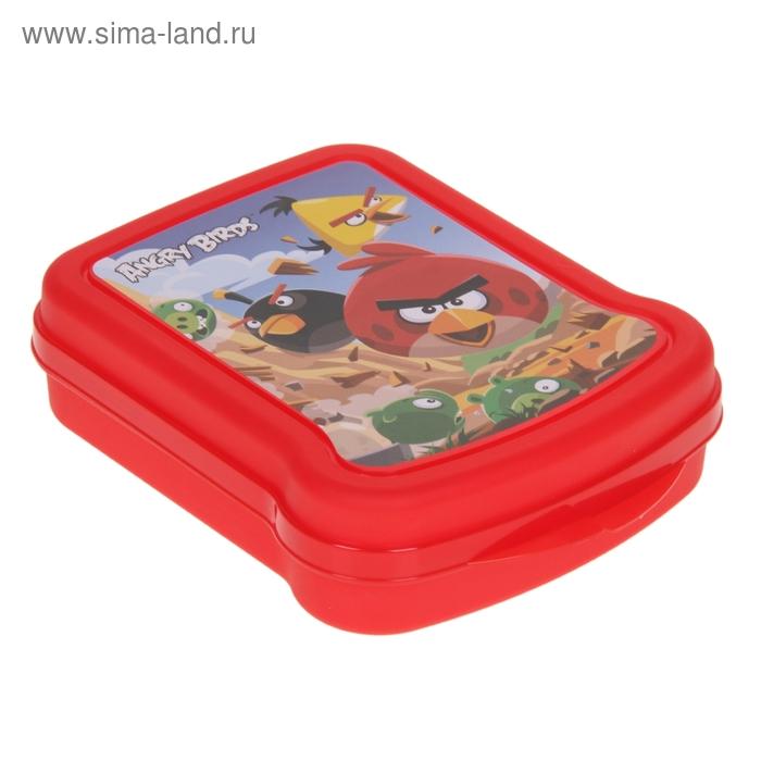 Контейнер для бутербродов Angry birds, цвет МИКС