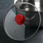Крышка для сковороды и кастрюли стеклянная , d=22 см, ручка силиконовая МИКС - фото 647437