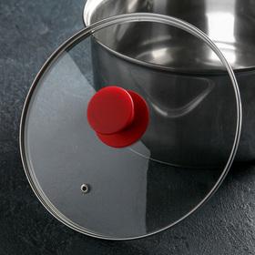 {{photo.Alt || photo.Description || 'Крышка для сковороды и кастрюли стеклянная , d=22 см, ручка силиконовая МИКС'}}
