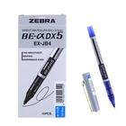 Ручка-роллер Zebra ZEB-ROLLER BE-& DX5 (EX-JB4-BL), узел 0,5мм, игловидный пишущий наконечник, синий