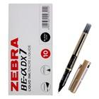 Ручка-роллер Zebra ZEB-ROLLER BE-& DX7 (EX-JB5-BK), узел 0,7мм, игловидный пишущий наконечник, черный