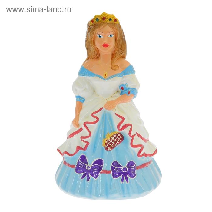 """Копилка """"Принцесса"""" глянец, голубая"""