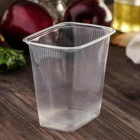 Set of disposable containers 500 ml, 10.8 x 8.2 x 10.6 cm, 100 pcs.