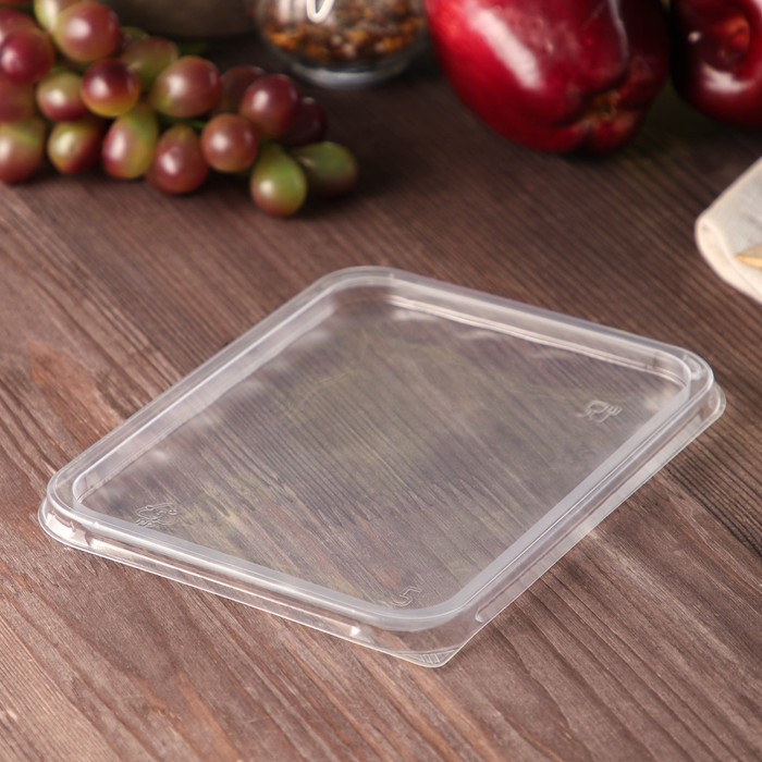 Крышка 17,9х13,2 см для одноразового контейнера, набор 50 шт