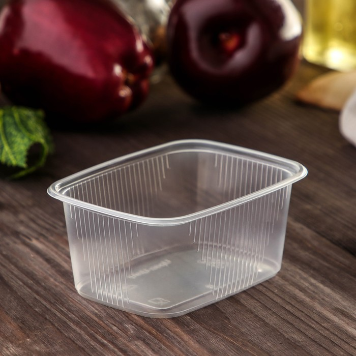 Набор одноразовых контейнеров 250 мл, 10,8х8,2х4,9 см, 100 шт