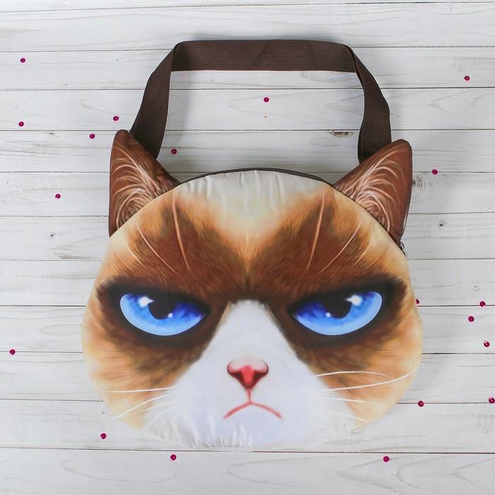 Мягкая сумка «Кошак, голубые глаза»