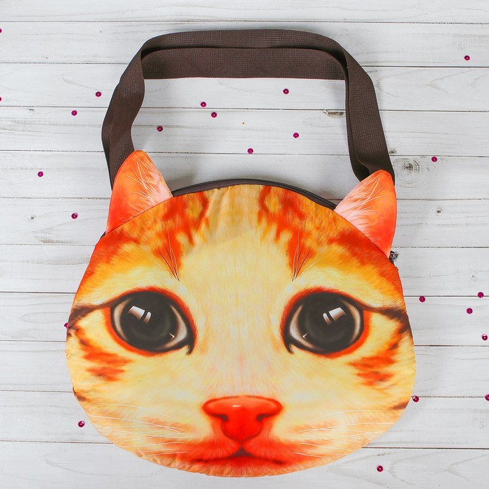 Мягкая сумка «Киса, рыжий носик»