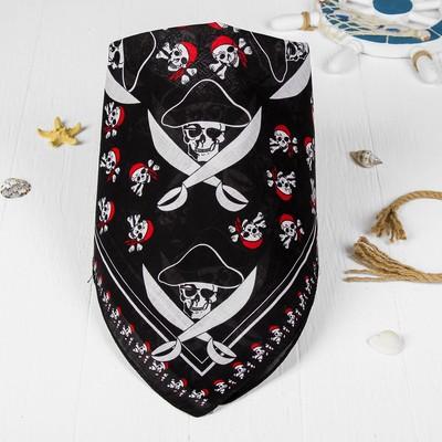 Бандана «Пират в шляпе», череп