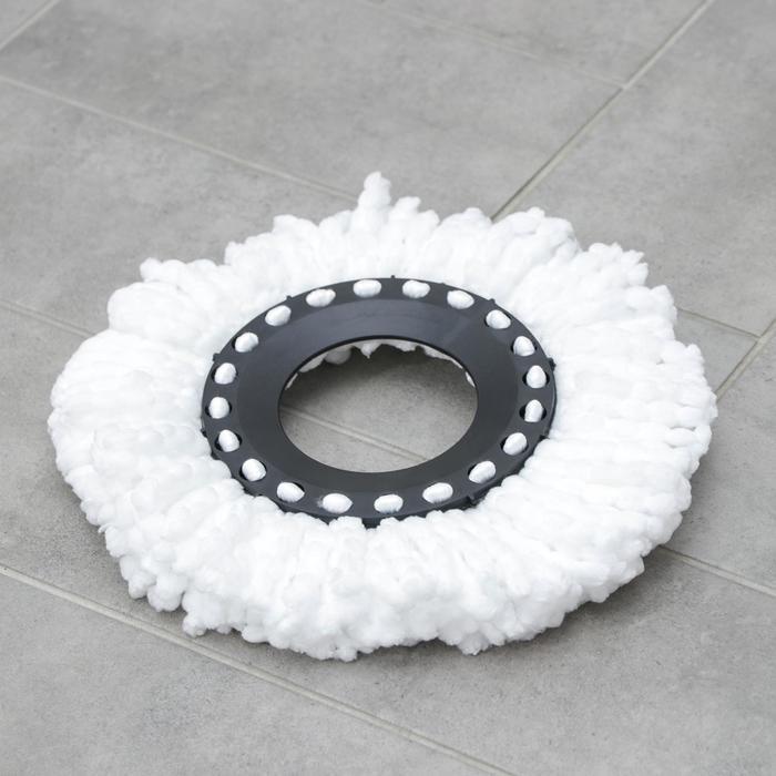 Насадка для швабры с отжимом-центрифугой, длина нитей 10 см, микрофибра, 75 гр, цвет белый - фото 1709474