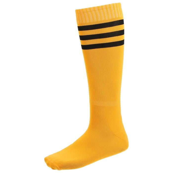 Гетры футбольные, размер 38-39, цвет оранжевый